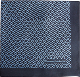 Ermenegildo Zegna Reversible silk pocket square