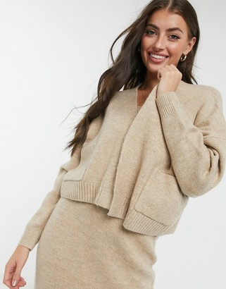 M Lounge relaxed cardigan with pockets co-ord