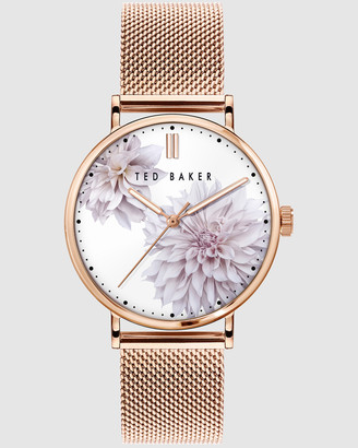 Ted Baker Women's Watches - Phylipa Peony Rose Gold Mesh Watch - Size One Size at The Iconic