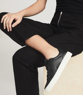 Thumbnail for your product : Reiss Finley - Leather Contrast Sole Trainers in Black
