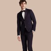 Burberry Slim Fit Wool Tuxedo Jacket