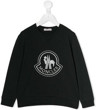 Moncler contrast logo sweatshirt