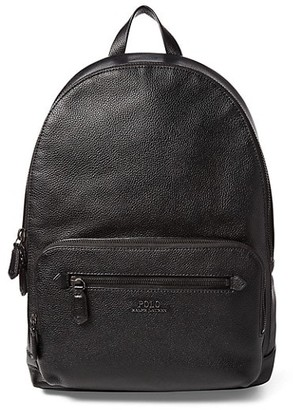 Polo Ralph Lauren Web Strap Pebbled Leather Backpack