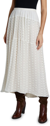 Chloé Broderie Anglaise Crepe Skirt