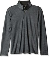 Calvin Klein Men's Space Dyed 1/4 Zip Knit Shirt