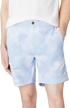 Onia Calder Cloud Print Swim Trunks