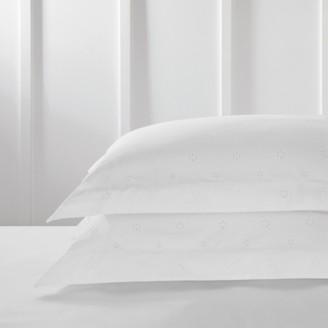 The White Company Freya Oxford Pillowcase - Single, White, Large Square