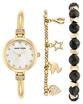 Anne Klein Women's Grace Quartz Watch with Mother of Pearl Dial Analogue Display and Rose Gold Metal Bangle AK/N2840RJAS