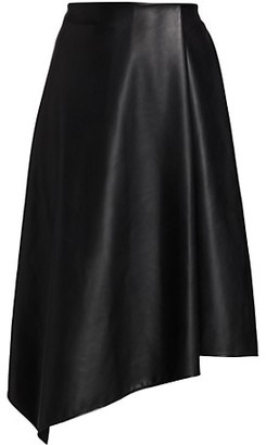 Alice + Olivia Jayla Vegan Leather Asymmetric Skirt
