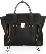 3.1 Phillip Lim The Pashli Large Shark-Effect Leather Trapeze Bag