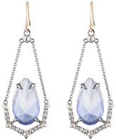 Alexis Bittar Crystal Encrusted Suspended Stone Wire Earring with Spike Accent