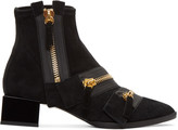 Pierre Hardy Black Suede Lou Ankle Boots