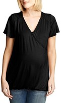 Maternal America Women's Flutter Sleeve Nursing Top