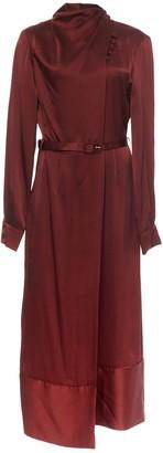 Gabriela Hearst Josefina High-Neck Silk Midi Dress
