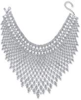 INC International Concepts Silver-Tone Draped Choker Statement Necklace, Created for Macy's