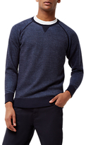 Jaeger Loopback Wool Sweatshirt, Navy