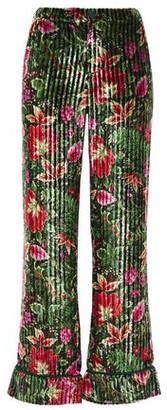 F.R.S For Restless Sleepers Etere Pleated Velvet Straight-leg Pants