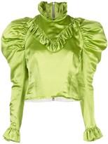 Di Lara Dilara Findikoglu ruffled silk-satin blouse