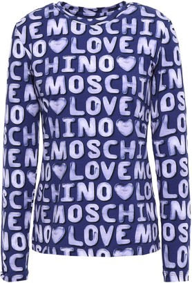 Love Moschino Cotton-blend Jersey Top