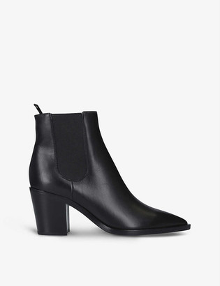 Gianvito Rossi Romney 70 leather block-heel ankle boots