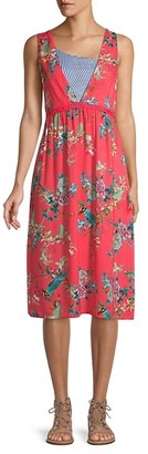 Johnny Was Malakye Floral Coverup Dress
