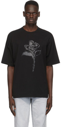 Marcelo Burlon County of Milan Black Psychedelic Flower T-Shirt