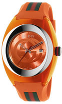 Gucci Sync Stainless Steel and Orange Rubber Strap Watch, YA137108
