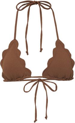 Marysia Swim Broadway Scalloped Bikini Top