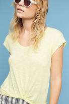 Pure + Good Draped Twist-Front Tee