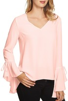 1 STATE 1.state Bell Sleeve V-Neck Top