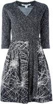 Diane von Furstenberg Jewel wrap dress - women - Silk/Wool - 10