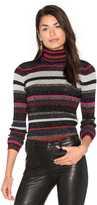 Diane von Furstenberg Leela Metallic Turtleneck Sweater