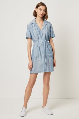 French Connection Laiche Stripe Shirt Dress