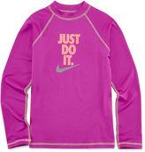 Nike Girls Solid Rash Guard-Big Kid