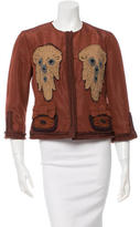 Prada Silk-Blend Embroidered Jacket