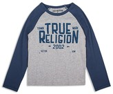 True Religion Boys' Contrast Sleeve Branded Tee - Sizes 2-7