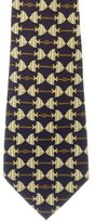 Chanel Fish Print Silk Tie