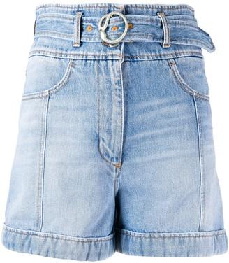 Just Cavalli High-Rise Denim Shorts