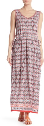 Max Studio V-Neck Sleeveless Maxi Dress