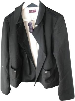 One Step Black Wool Jacket for Women