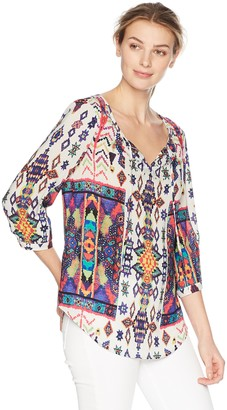 Tribal Women's 3/4 Sleeve Blouse with Beading