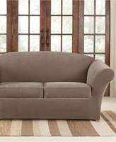 Sure Fit Stretch Pique 2 Cushion Loveseat Slipcover Bedding