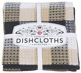 Now Designs Check Dishcloth Set, Black