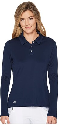 adidas Performance Long Sleeve Polo (Collegiate Navy) Women's Long Sleeve Pullover