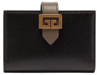 Givenchy Gv3 Logo-buckle Leather Bi-fold Card Holder - Womens - Black Grey