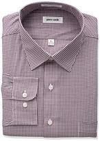 Pierre Cardin Men's Plaid Or Check Regular Fit Semi Spread Collar Dress Shirt