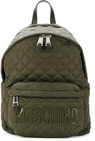 Moschino quilted letter logo backpack