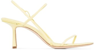Studio Amelia 75mm Snakeskin-Effect Slingback Sandals