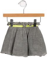 Nununu Girls' Flared Raw-Edge Skirt