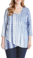 Karen Kane Plus Size Women's Print Jersey Wrap Front Top